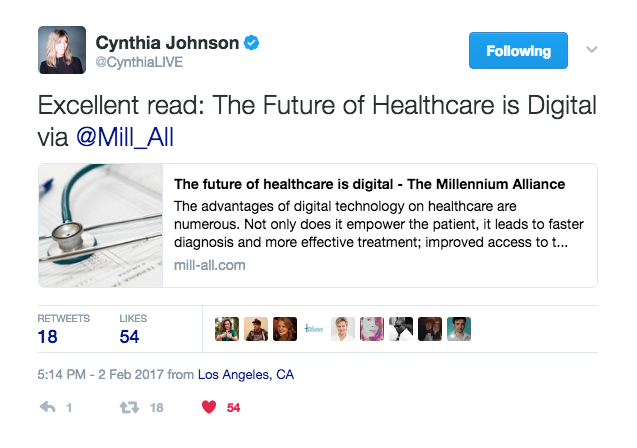 Cynthia Johnson shares blog on future of healthcare